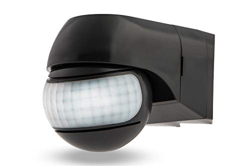 HUBER Motion 3 Eck Infrarot Bewegungsmelder 220° hochsensibel durch 2 Bewegungssensoren IP44 I 230V Bewegungsmelder LED geeignet, horizontal/vertikal verstellbar, Wand-/Eckmontage