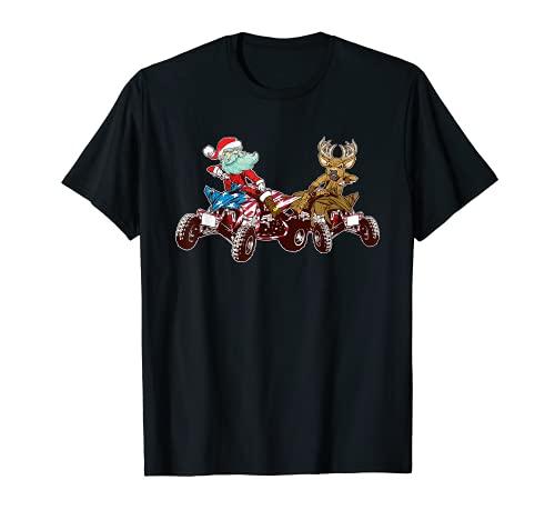 Vehículos todo terreno de Navidad Santa Claus 4 ruedas ATV Camiseta