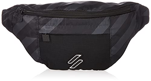 Superdry Mens Sportstyle NRG Bum BAGS, Black AOP, One Size