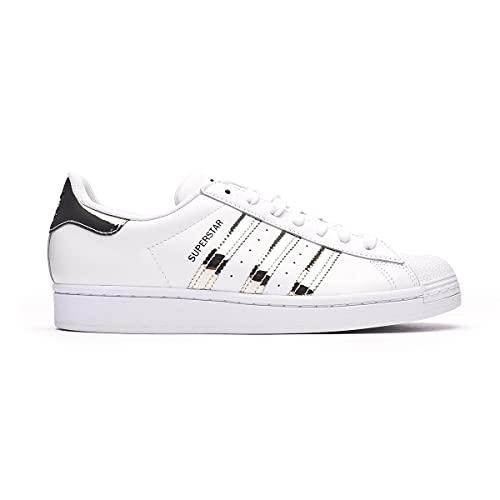 adidas Superstar W, Zapatillas de Gimnasio Mujer, FTWR White Silver Met Core Black, 41 1/3 EU