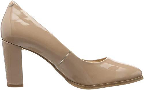 Clarks Kaylin Cara, Zapatos de Tacón para Mujer, Beige (Praline Patent Praline Patent),...