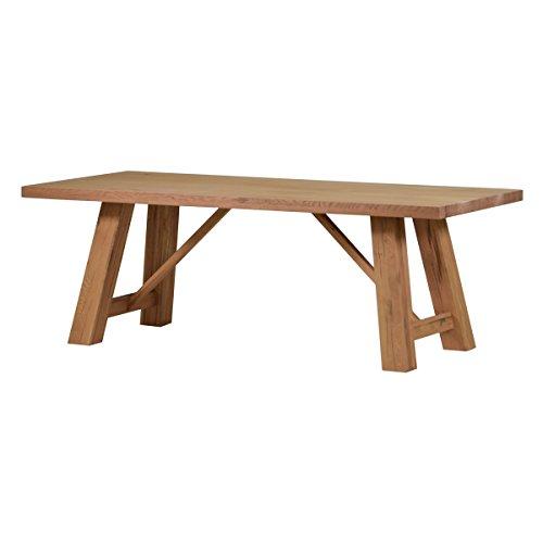 MÖBEL IDEAL Esstisch Esszimmertisch Tisch Brandon 180 x 90 x 77 cm Wildeiche Massivholz Holz Eiche massiv