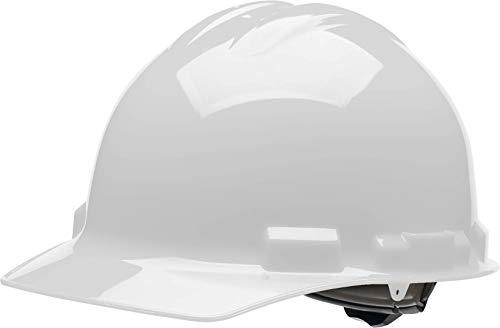 Malta Dynamics 4 pt Ratchet Cap Style Hard Hat White OSHA/ANSI Compliant
