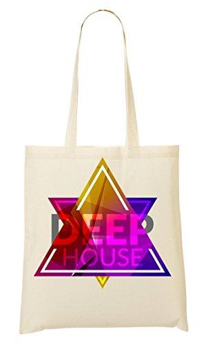 Deep | Music Style | Club | Party | Loud | Kleurrijke | Simple | Shape draagtas boodschappentas