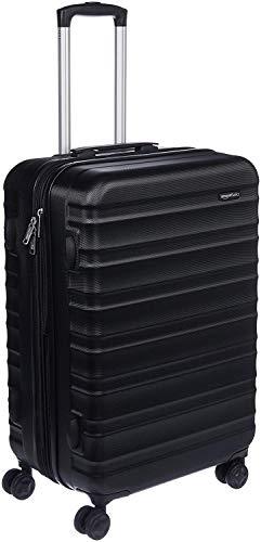 AmazonBasics Hardside Spinner Suitcase Luggage - Expandable with Wheels - 26 Inch, Black