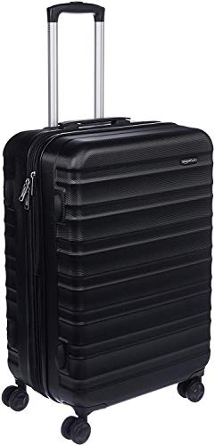 Amazon Basics Hardside Spinner Suitcase Luggage - Expandable with Wheels - 26 Inch, Black