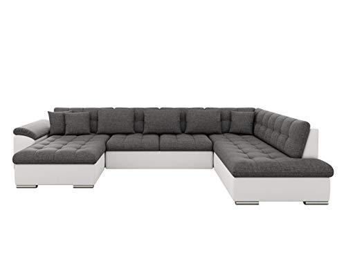 Mirjan24 Eckcouch Ecksofa Niko Bis! Design Sofa Couch! mit Schlaffunktion und Bettkasten! U-Sofa Große Farbauswahl! Wohnlandschaft vom Hersteller (Ecksofa Links, Soft 017 + Lux 06)
