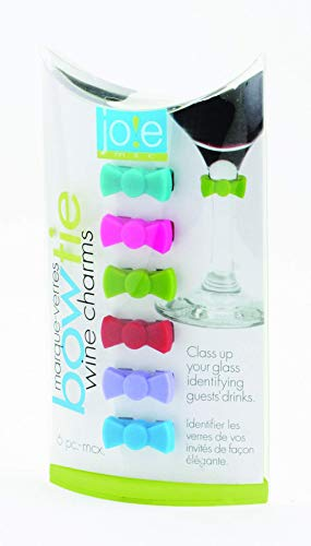 Joie Bow Tie Drink and Wine Charm Set, Set of 6