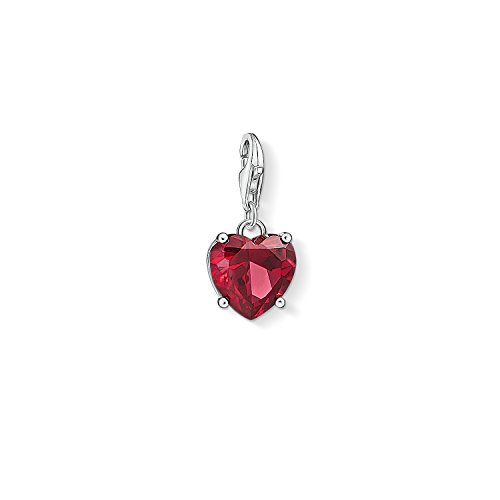 THOMAS SABO Damen-Charm-Anhänger Herz Pave Charm Club 925 Sterling Silber 1570-051-14