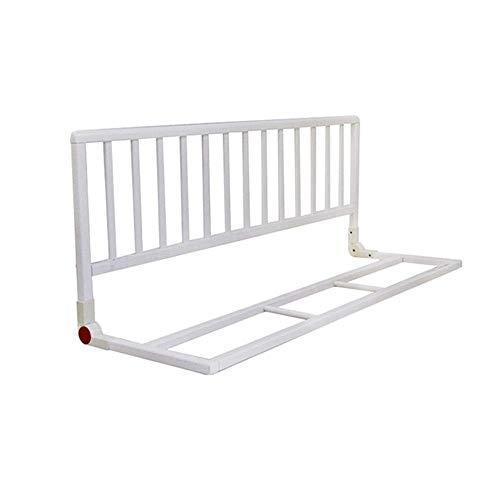 ZHAS Extra breite extra hohe Bettgitter aus Holz (Farbe: Weiß)
