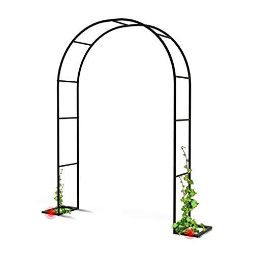 HRXQ Arco De Jardin Exterior Negro para Trepar Plantas Arco para Rosas Cenador De Arco De Boda Cenador De Decoración De Fiesta Nupcial De Jardín (120×220cm,140×230cm)