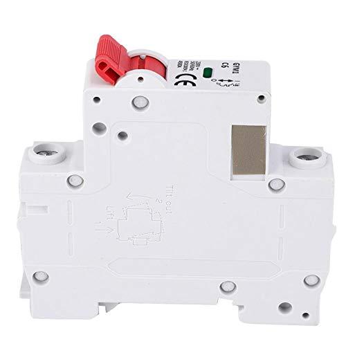 Agatige Disyuntor en Miniatura GYM1, 1P Interruptor de Aire de tamaño pequeño Protección de Circuito Instalación en Carril DIN(20A)