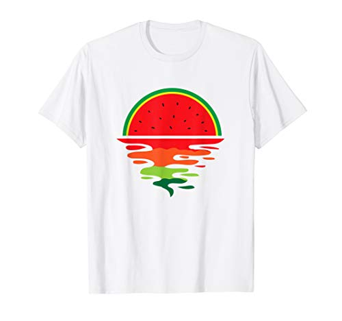 Watermelon Summer Sunset Water Fruit Watermelon Sunset T-Shirt