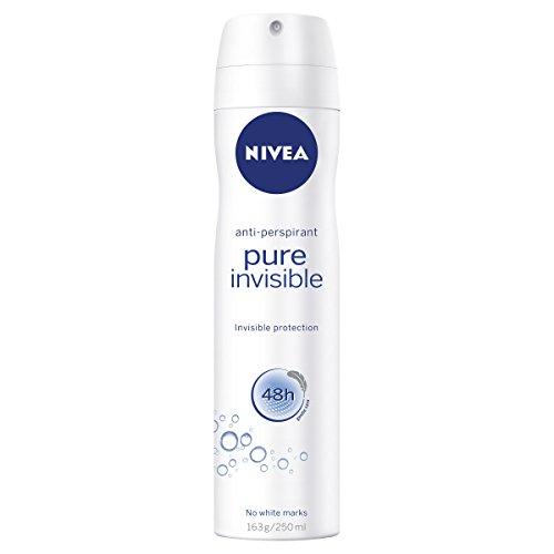 NIVEA Pure Invisible Aerosol Antiperspirant Deodorant Spray, 250 ml