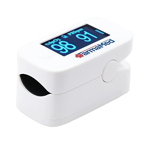 FARMAMED 3 in 1 Saturimetro da dito, Ossimetro, Pulsossimetro professionale per Saturazione...
