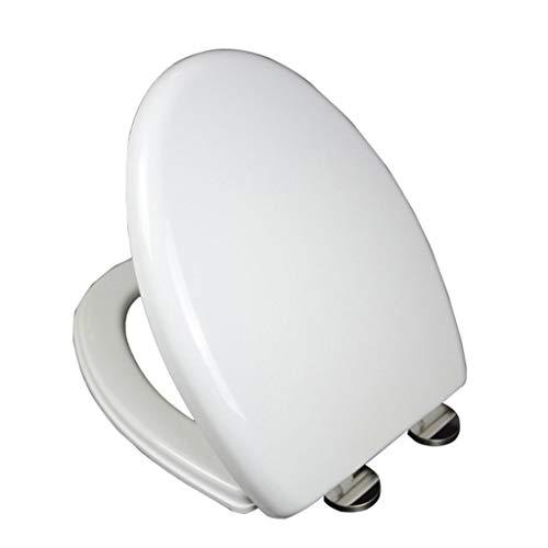 TOHOLOWW Langwerpige driehoek wc-bril dubbele knop bovenste wc kommen deksel dikker wc-hoezen snelle release internationale standaard schroef pitch geen slam stil sluiten