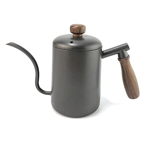 Andifany 600Ml Gooseneck Spout Long Mouth Coffee Kettle Teapot Steel Bracket Hand Punch Pot Coffee Pots with Lid Drip