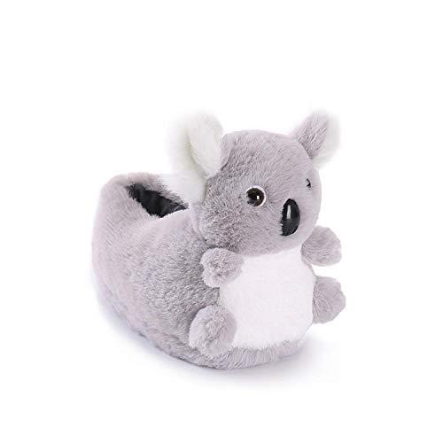 SHOESESTA Pantoffeln Plüsch Cartoon Tiere Plüsch Pantoffeln Damen Frauen Winter Zuhause rutschfeste Wärme Freizeit Erwachsene Kinder Bodenschuhe-Koala_Kinder 25-33 (20cm)