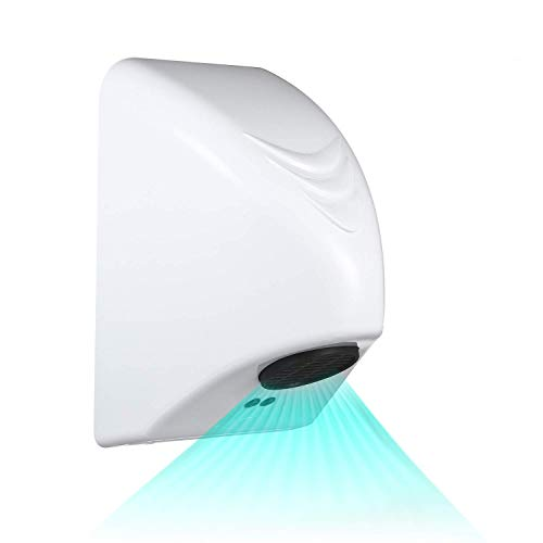 KKmoon Secador de Manos Automático 600W,Secador de Manos Eléctrico, Dispositivo de Secado de Manos para el hogar,Baño,Secador de Aire Caliente,Soplador de Mano