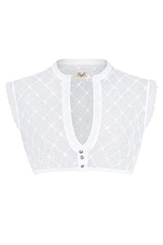 CocoVero Damen Dirndl-Spitzen-Bluse ohne Arm weiß, weiß, 40