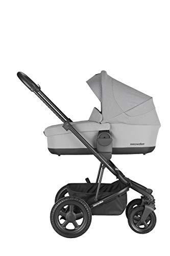 Easywalker Harvey² All Terrain Kinderwagen + Babywanne + Fußsack + Autositzadapter + Höhenadapter Steingrau