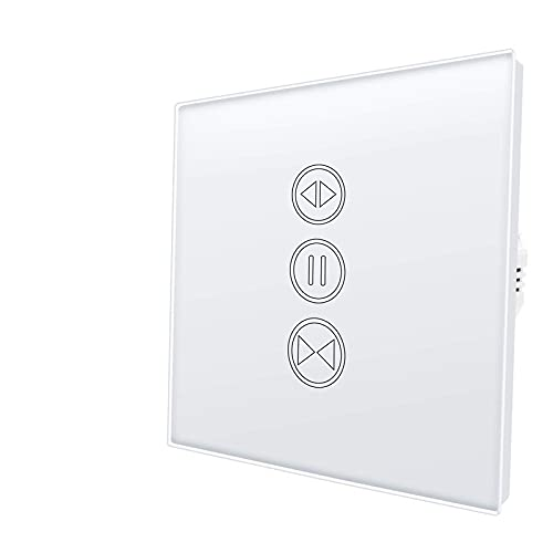 YGLONG Interruptor Persianas WiFi Shutter de Rodillo de Cortina eléctrica Smart WiFi Toque Interruptor de Voz Control de Voz Temporizador de Control Remoto Control Interruptor De Cortina