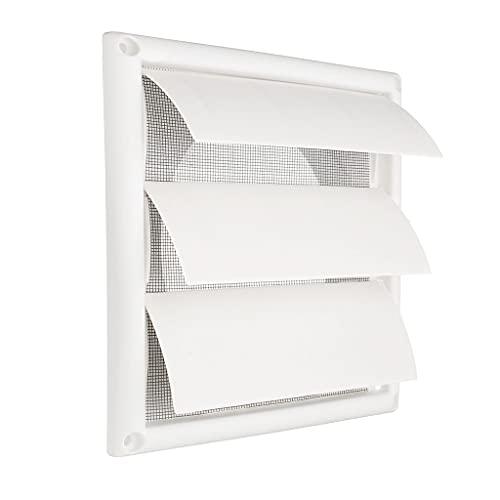 MYCZLQL Cubierta De Ventilación De La Rejilla De Ventilación De Aire 200 × 200 × 40mm, Plástico De Pared Blanca Parrillas De Parrillas Calefacción Refrigeración Y Ventilación