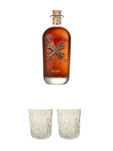 Bumbu The Original Spirituose auf Rumbasis 35% 0,7 Liter + Rum Glas 1 Stück + Rum Glas 1 Stück