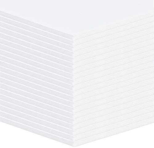 20 Stück Selbstklebende (einseitig) Leichtschaumplatten - 5mm - Weiss - Format: A4 (21x29,7cm)