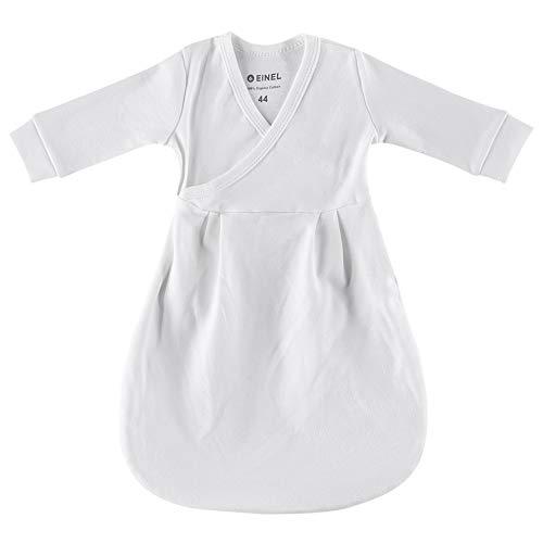 Set EINEL Innenschlafsack Wärmli Ecru & Stoffwindel Kinderhaus Blaubär | Babyschlafsack aus Bio Baumwolle | Strampelsack pflegeleicht | Schlafsack, Größe:44