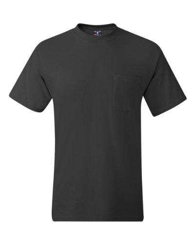 Hanes Beefy-T Adult Pocket T-Shirt M Grey