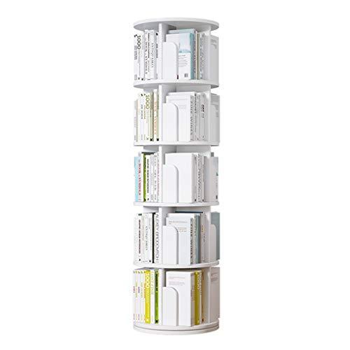 Librerie Girevole a 360 Terra per Bambini assemblata Multistrato Mensola salvaspazio (Color : Bianca, Size : 5 Layers(46 * 160cm))