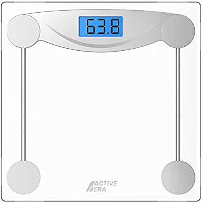 Active Era® Ultra Slim Digital Bathroom Scales with High Precision Sensors and Tempered Glass (Stone/kgs/lbs)
