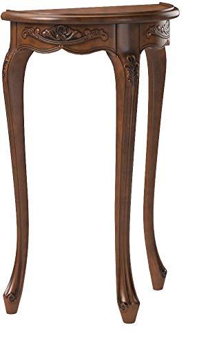 クロシオコンソールテーブルブラウン約幅43.3×奥行20.5×高さ70cmアンティーク調092359