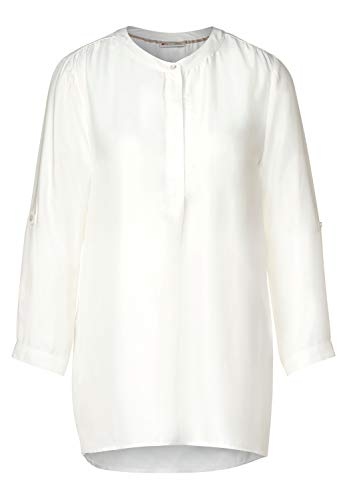 Street One Damen Unifarbene Longbluse Off White 46