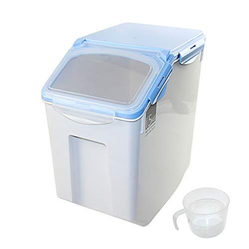 DZL- Contenedor pienso Perros 15kg con Ruedas Contenedor para Pienso Contenedor de Alimentos para Mascotas Caja de Alimentos (12-15KG)