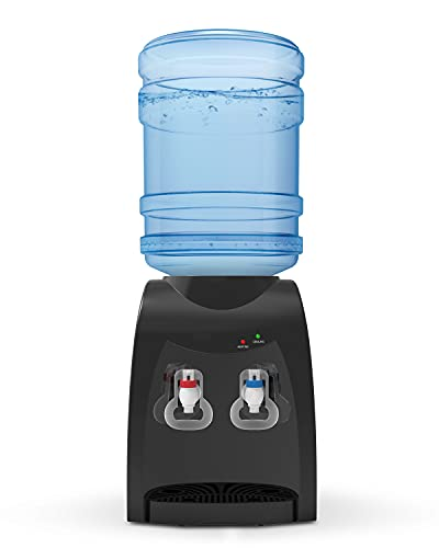 Top Loding Electrical Cooling Water Dispenser, 3 or 5 Gallon Bottle, Hot & Cold Water, Anti-Scalding Design , for Home and Office Use, 14'' Black