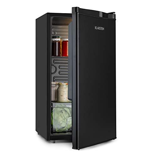 Klarstein Obsidian - réfrigérateur, intérieur et extérieur noir, 7 niveaux de refroidissement, bac à légumes, niveau sonore 42 dB, volume 91L, noir
