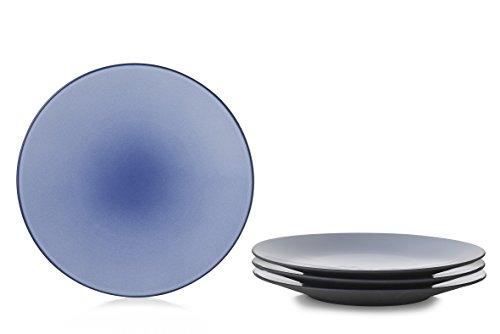 Revol RV649500 Assiette Equinoxe Plat, Porcelaine, Bleu Cirrus, 28 x 28 x 3,3 cm