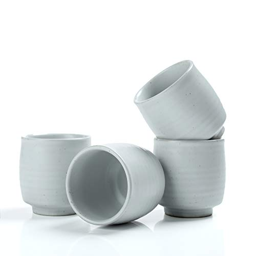 TEANAGOO TC07, Keramik China Teetasse Für TP07, 175 ml, Ruware, Weiß, 4 Stück/Box