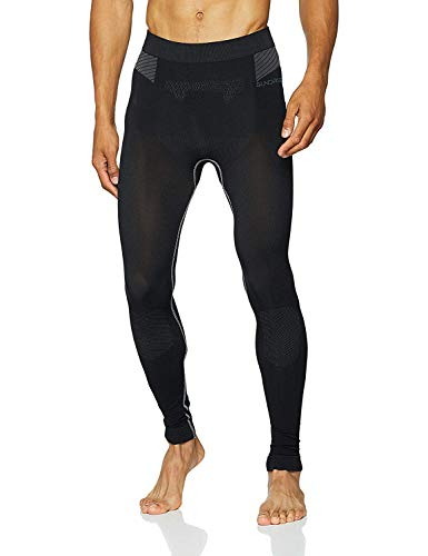Sundried Mens Esecuzione Leggings Gym Training Collant a Compressione Technology (Nero, M)