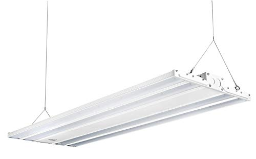 Hyperikon 4 Foot Linear LED High Bay Lights with Motion Sensor, Hanging Shop Light, UL, DLC, 300 Watts