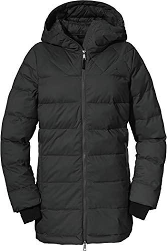 Schöffel Damen Parka Boston L Wintermantel, black, 36