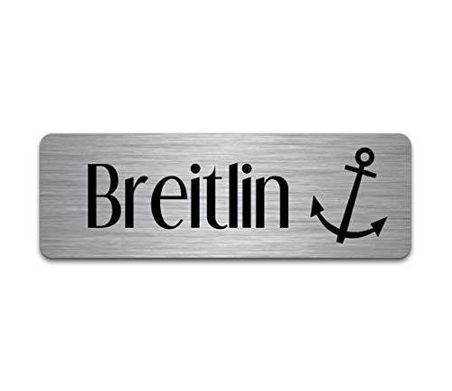Roestvrijstalen deurbordje met gravure | naambordje brievenbus zelfklevend of blank 6x2 cm meer dan 80 motieven belbord/deurbordje voor de huisdeur met naam zelf maken
