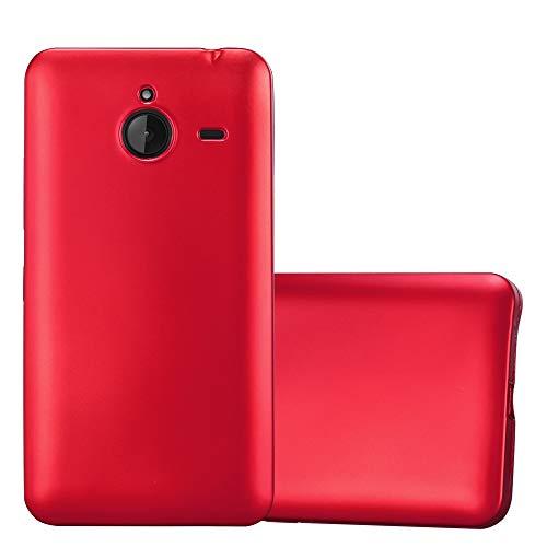 Cadorabo Custodia per Nokia Lumia 640 XL in Rosso Metallico - Morbida Cover Protettiva Sottile di Silicone TPU con Bordo Protezione - Ultra Slim Case Antiurto Gel Back Bumper Guscio