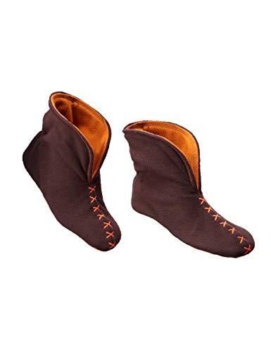 RAIKOU Pantofole per casa Super Morbido Donna Calze a Pantofola Antiscivolo in soffice Babbucce per Stivali Donna (37-40, Caffè/Giallo