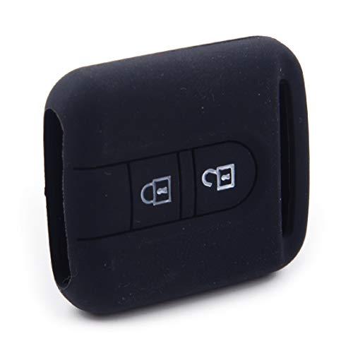 CITALL Coque noire avec télécommande en silicone à 2 boutons