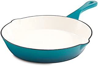 Crock Pot 111982.01 Artisan 10 Inch Enameled Cast Iron Round Skillet, Teal Ombre