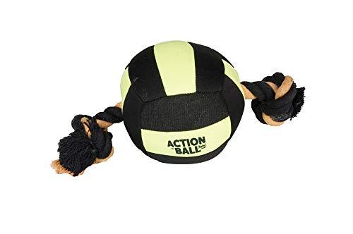 FLAMINGO Actionball Aquatic pour Chien Noir/Jaune 13 cm
