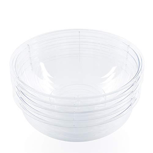 5 Piezas - 5100ML - Ensaladeras Multi-Uso Extra Grandes, Gigante Cuencos, Bol de Plástico Transparentes - Ligero Resistente...